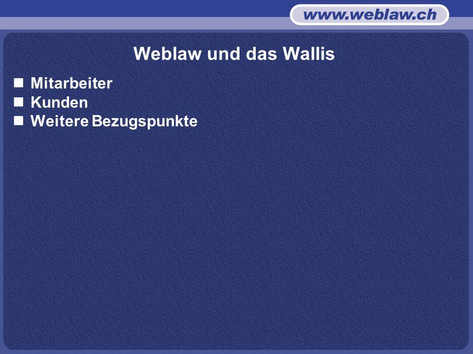 Weblaw und das Wallis Mitarbeiter Kunden Weitere Bezugspunkte