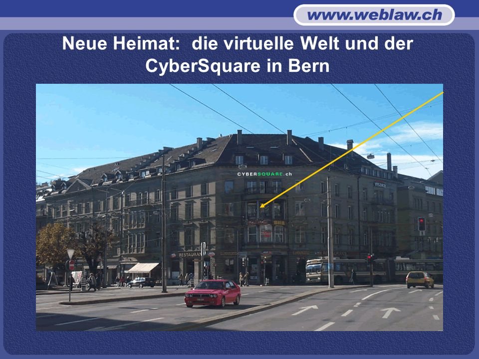 Neue Heimat: die virtuelle Welt und der CyberSquare in Bern