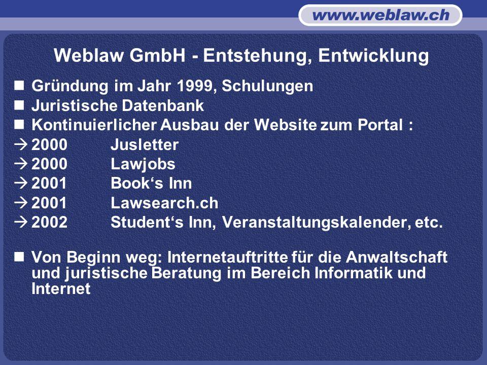 Weblaw GmbH - Entstehung, Entwicklung