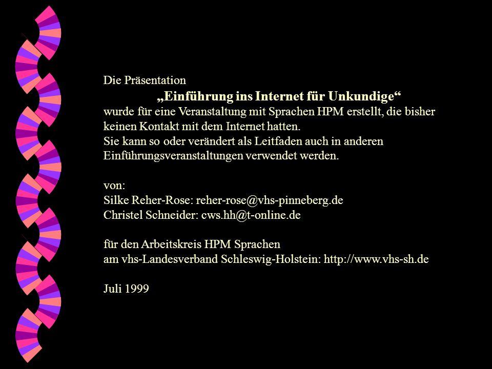 """""""Einführung ins Internet für Unkundige"""