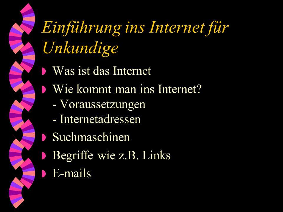 Einführung ins Internet für Unkundige