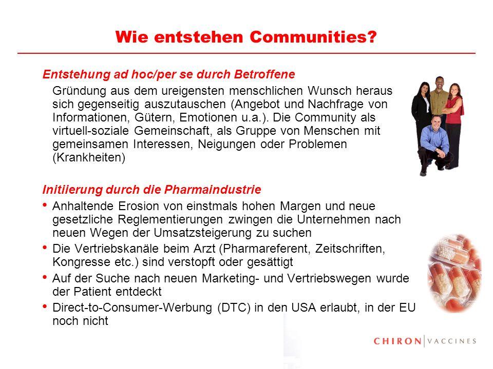 Wie entstehen Communities