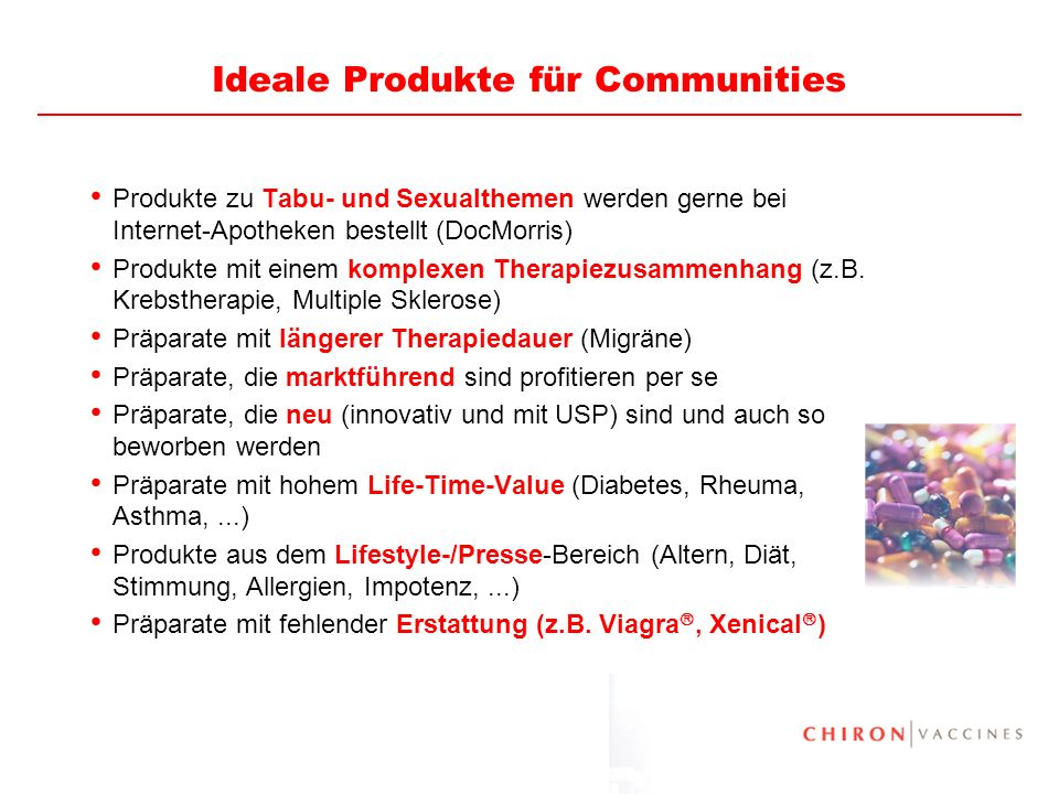 Ideale Produkte für Communities