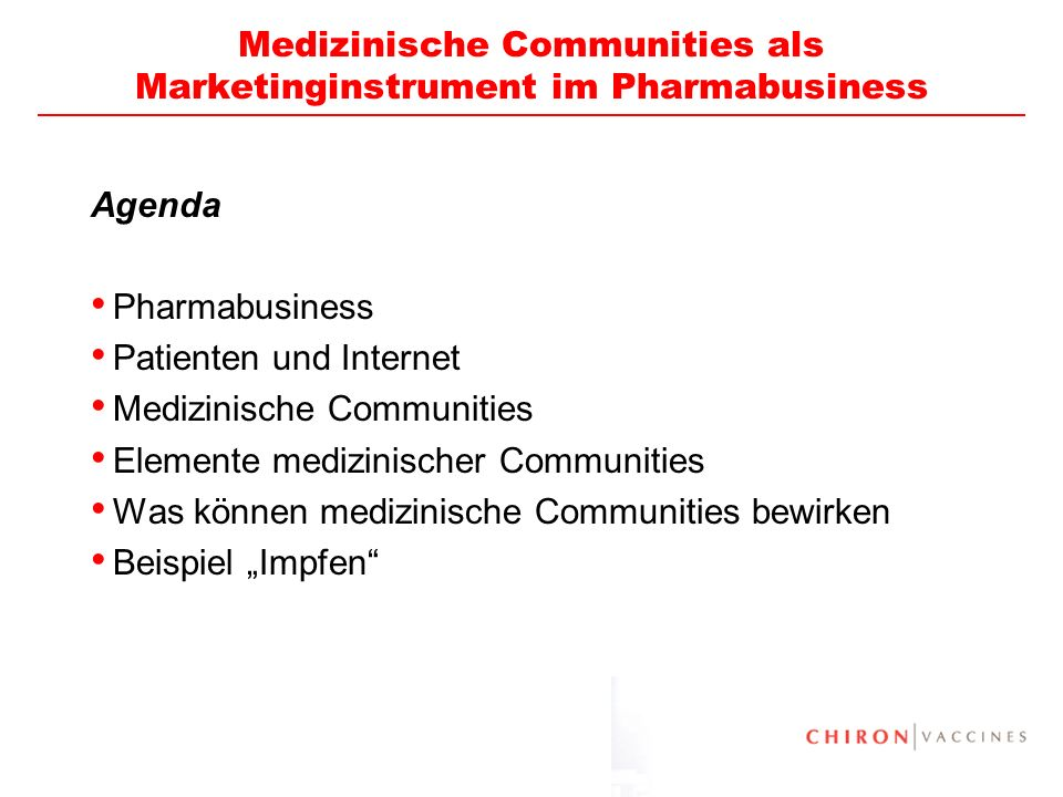 Medizinische Communities als Marketinginstrument im Pharmabusiness