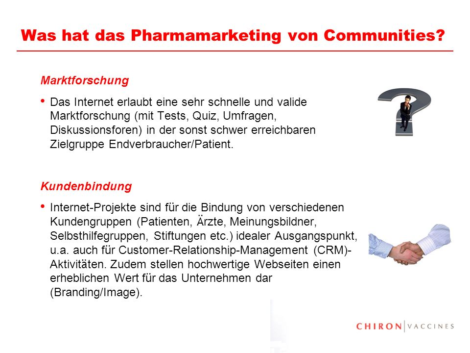 Was hat das Pharmamarketing von Communities