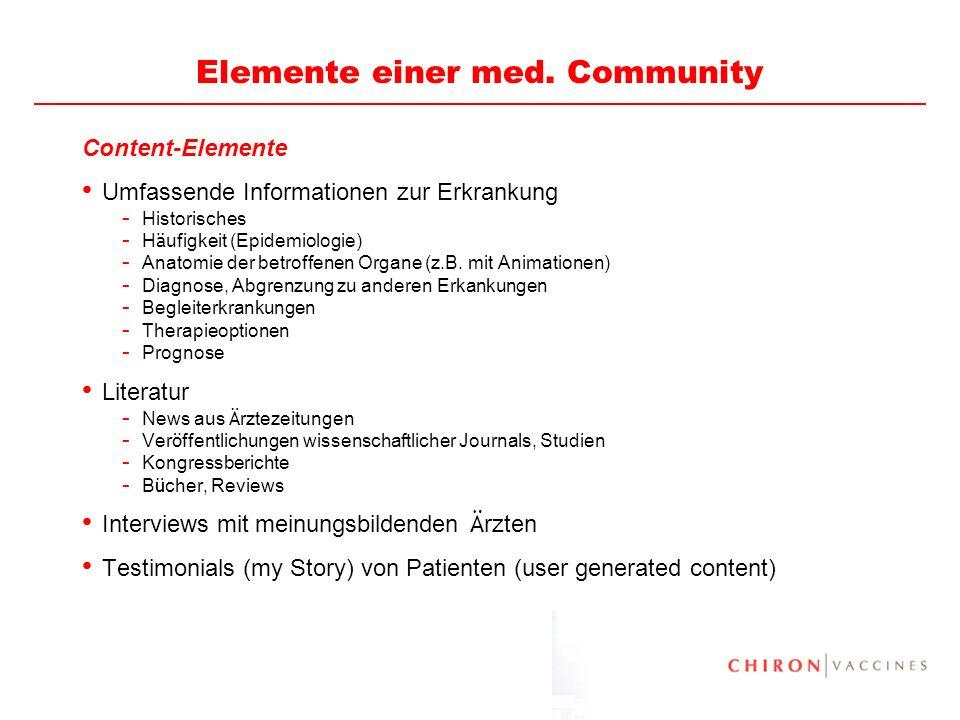 Elemente einer med. Community