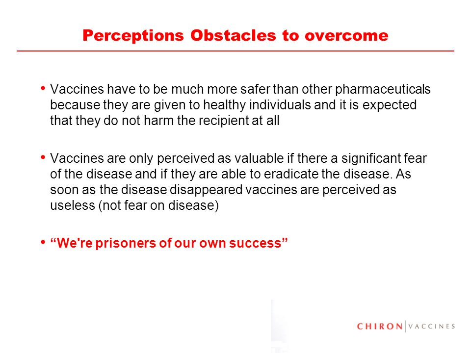 Perceptions Obstacles to overcome