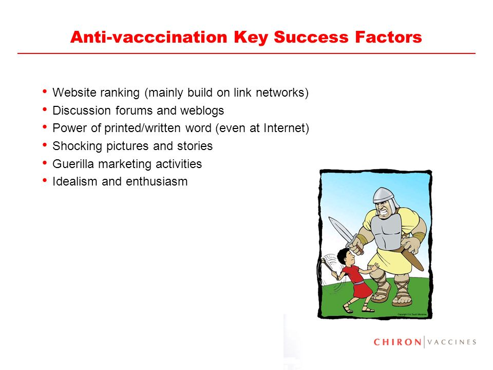 Anti-vacccination Key Success Factors
