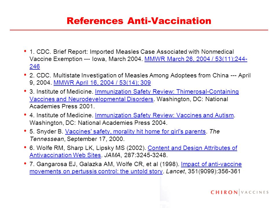 References Anti-Vaccination