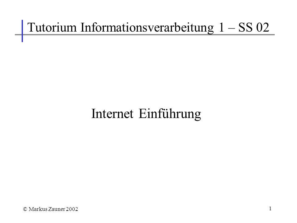 Tutorium Informationsverarbeitung 1 – SS 02