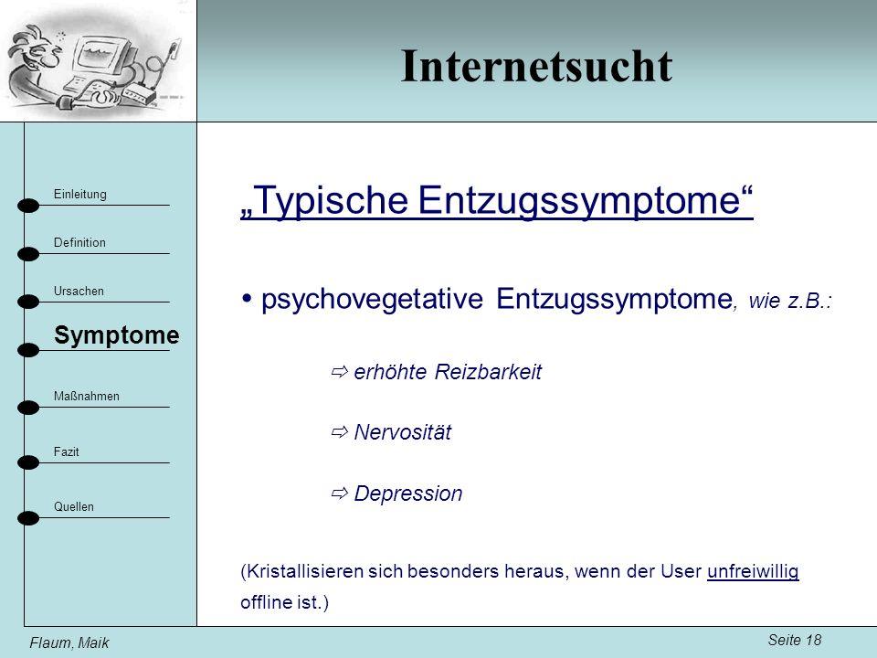 """Internetsucht """"Typische Entzugssymptome"""