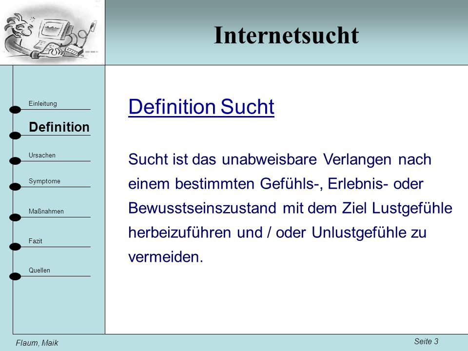 Internetsucht Definition Sucht