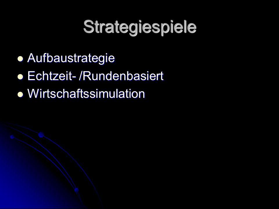 Strategiespiele Aufbaustrategie Echtzeit- /Rundenbasiert