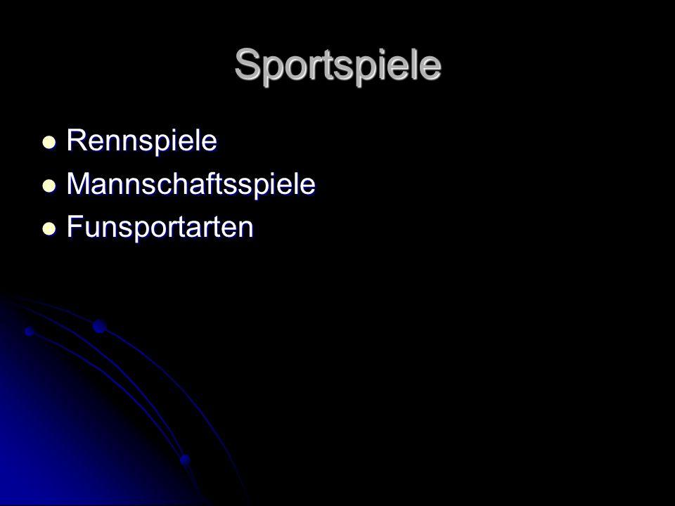 Sportspiele Rennspiele Mannschaftsspiele Funsportarten