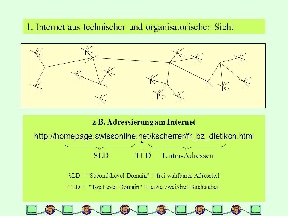 1. Internet aus technischer und organisatorischer Sicht