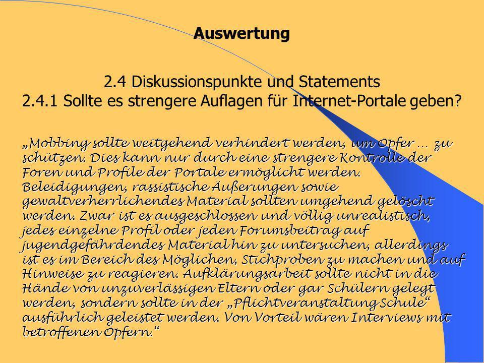 2.4 Diskussionspunkte und Statements