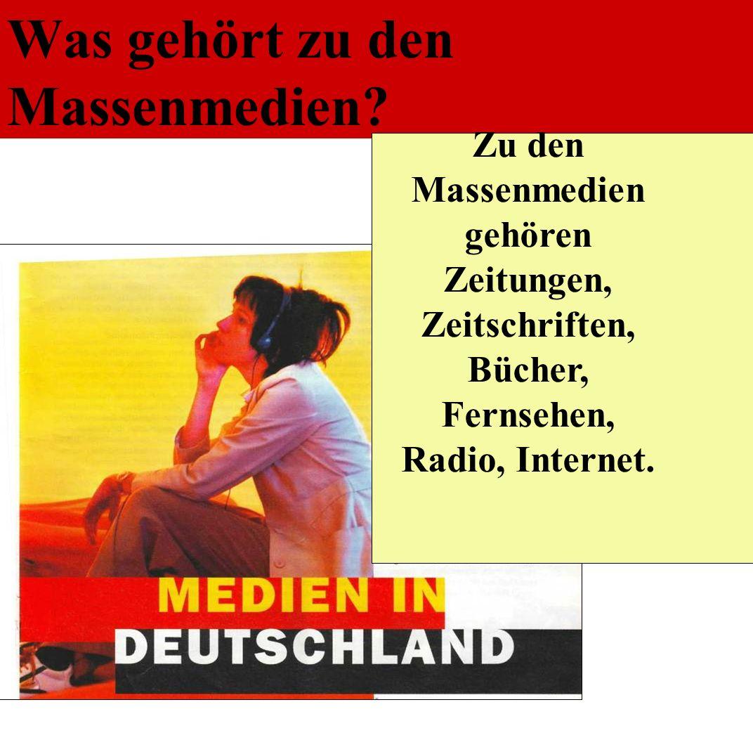 Was gehört zu den Massenmedien