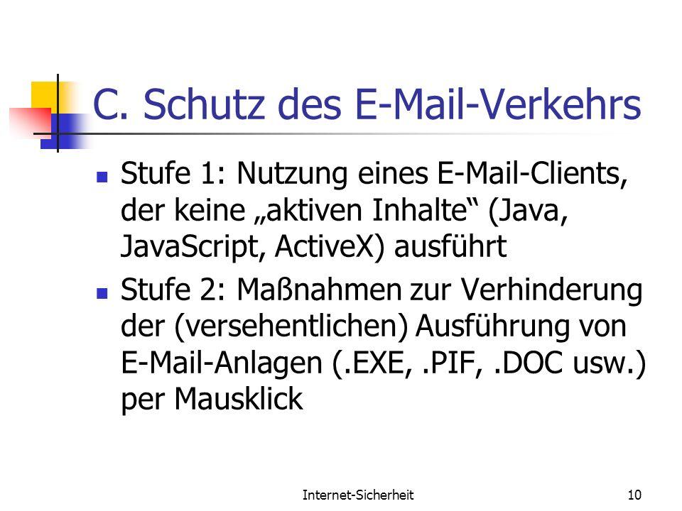 C. Schutz des E-Mail-Verkehrs