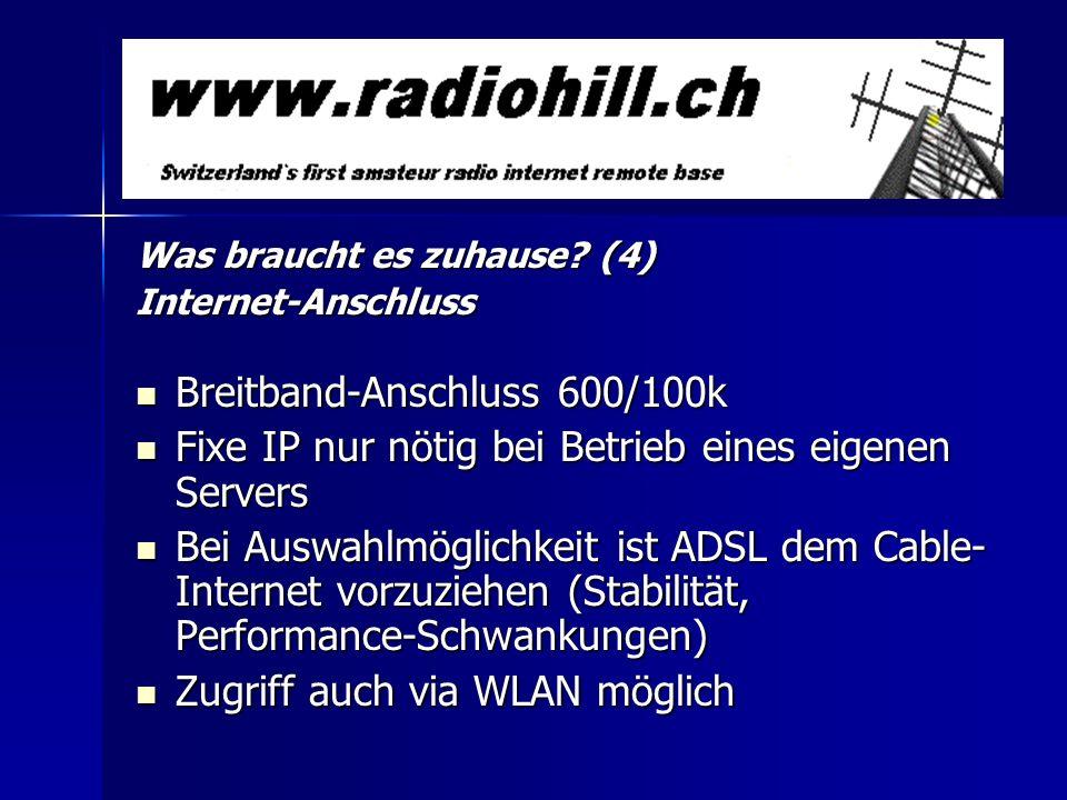 Breitband-Anschluss 600/100k