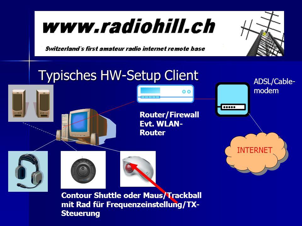Typisches HW-Setup Client