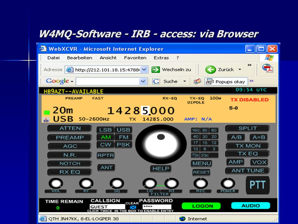 W4MQ-Software - IRB - access: via Browser