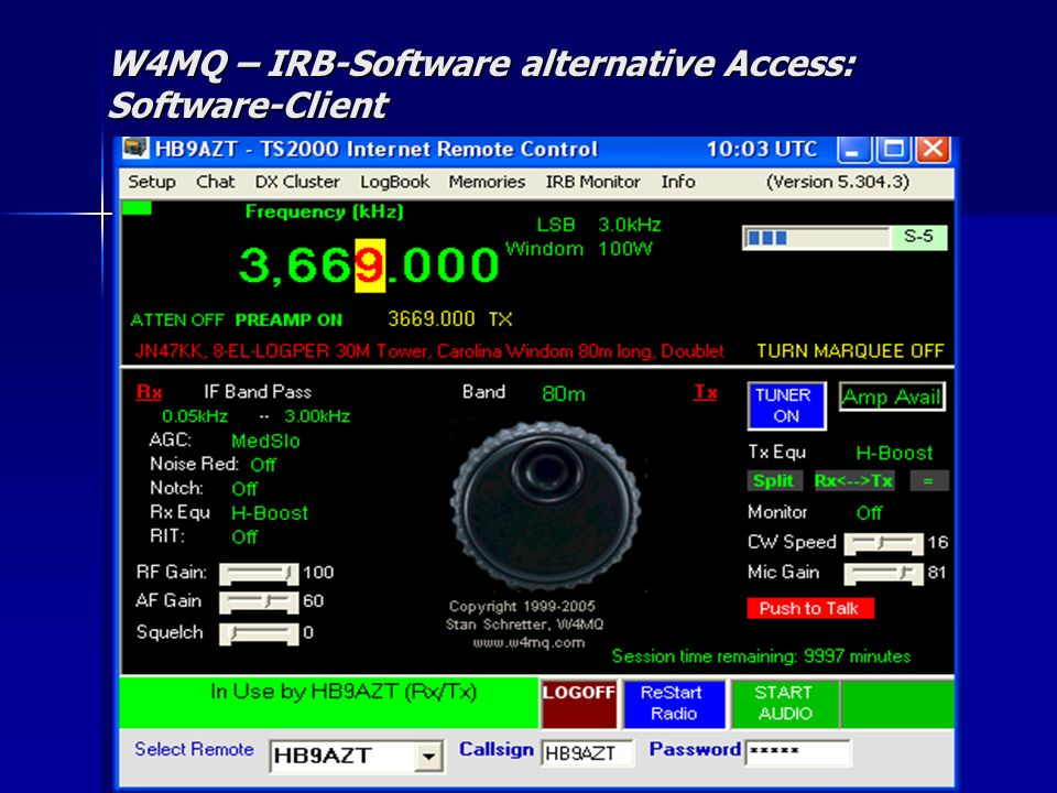 W4MQ – IRB-Software alternative Access: Software-Client