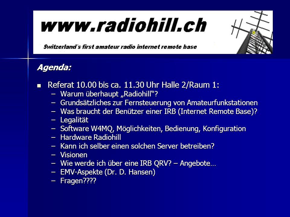 Referat 10.00 bis ca. 11.30 Uhr Halle 2/Raum 1: