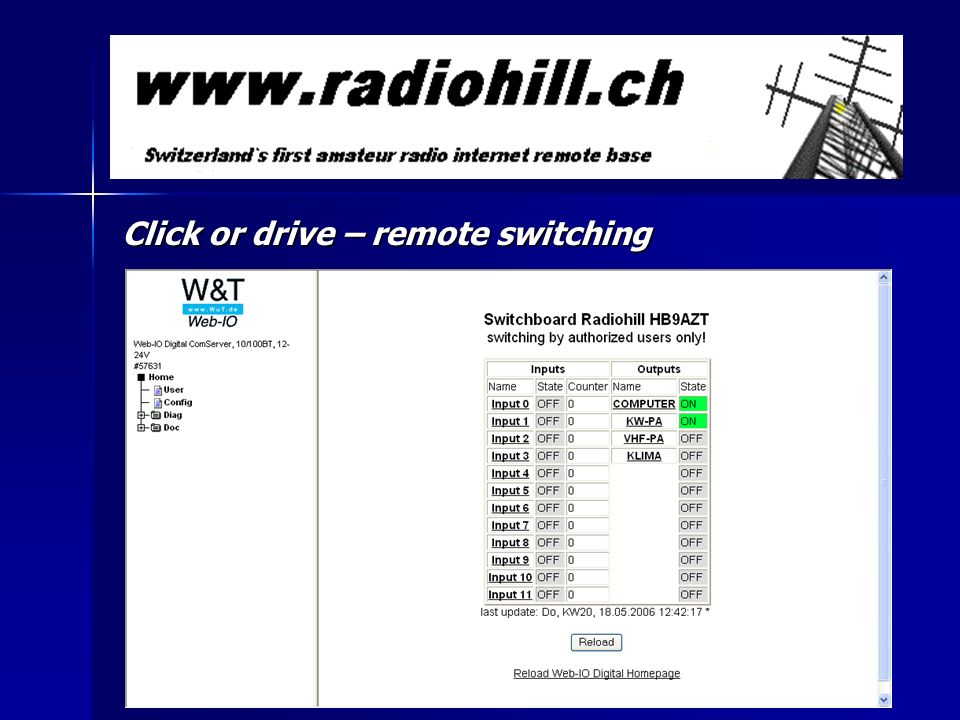 Click or drive – remote switching