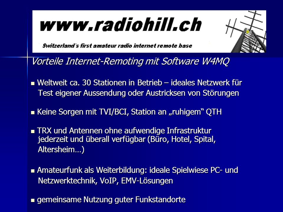 Vorteile Internet-Remoting mit Software W4MQ
