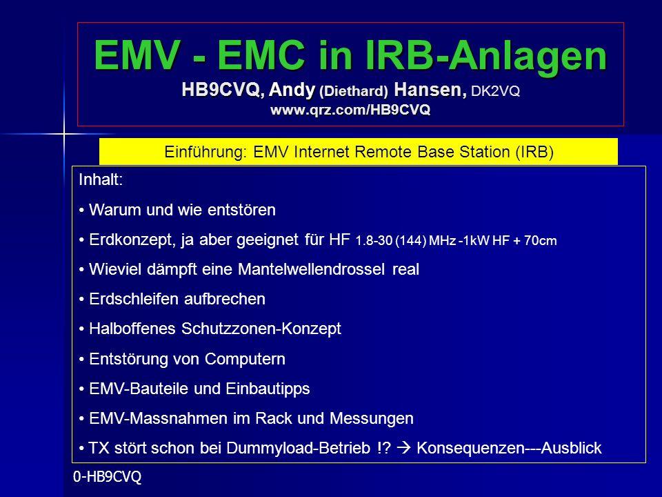 Einführung: EMV Internet Remote Base Station (IRB)