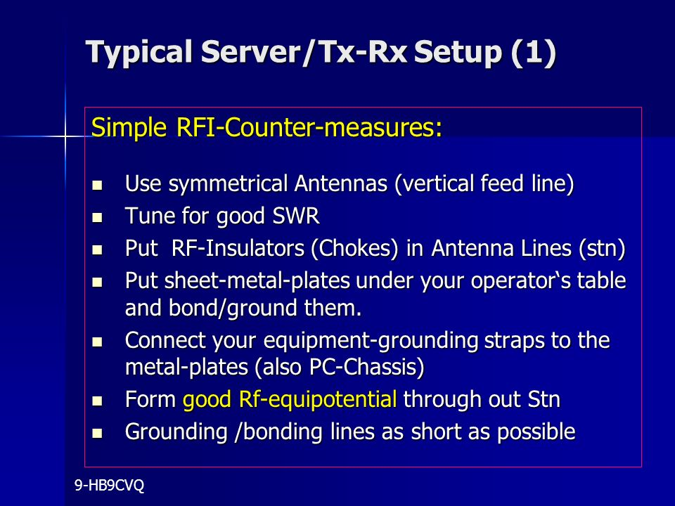 Typical Server/Tx-Rx Setup (1)
