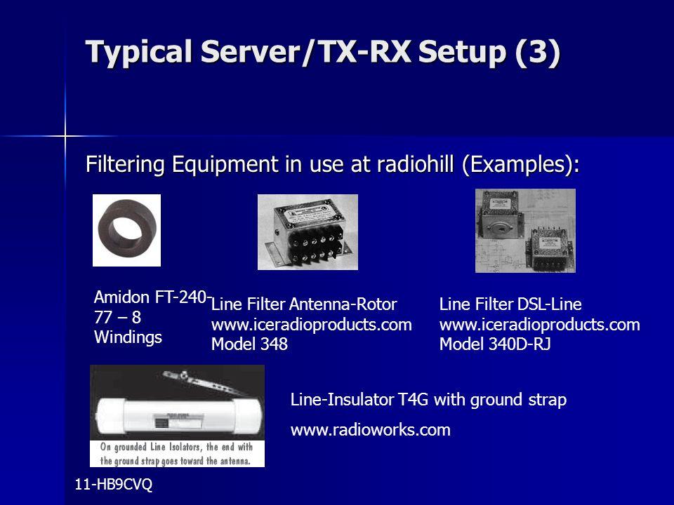Typical Server/TX-RX Setup (3)
