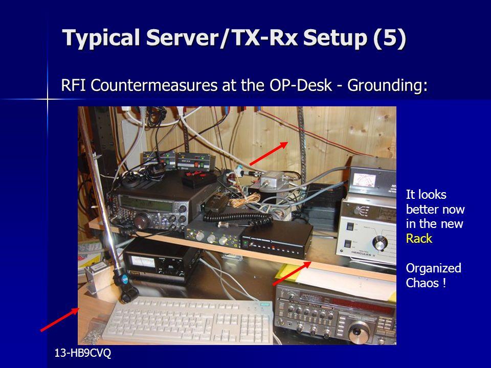 Typical Server/TX-Rx Setup (5)