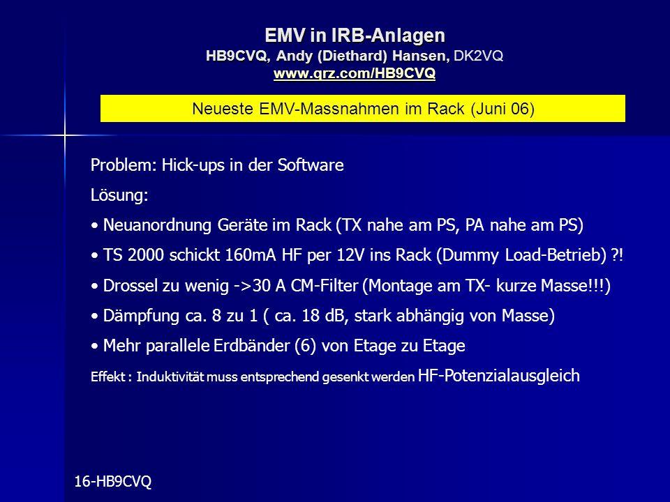 Neueste EMV-Massnahmen im Rack (Juni 06)