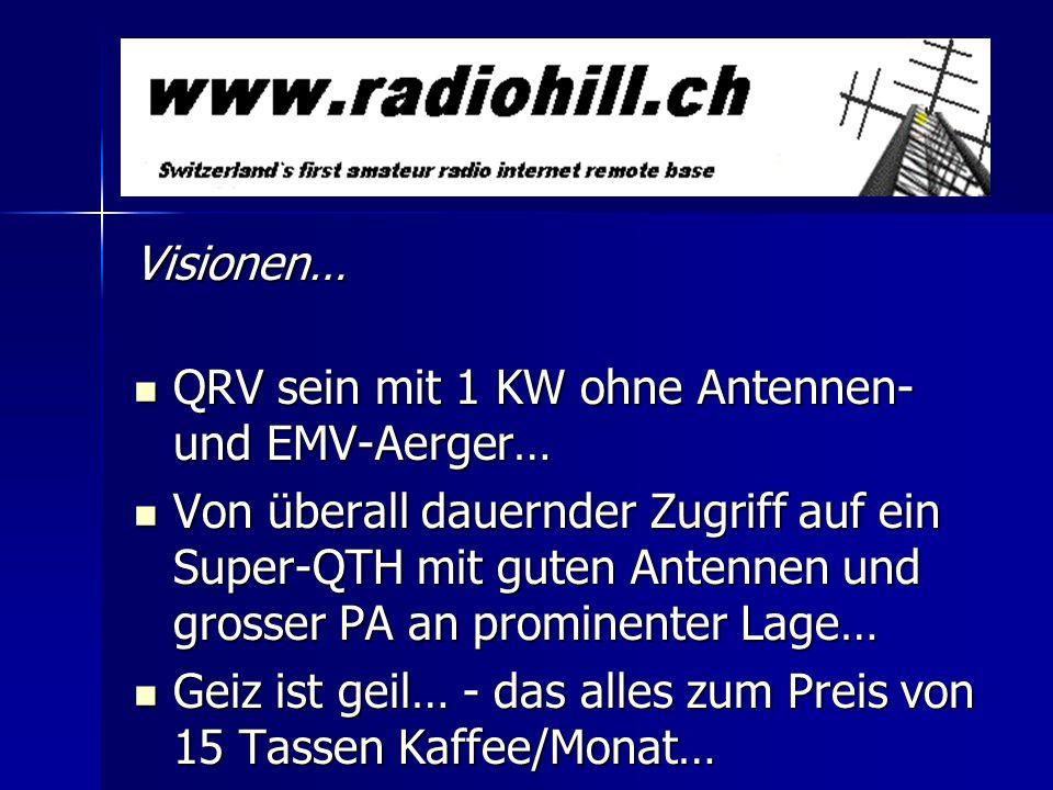 Visionen… QRV sein mit 1 KW ohne Antennen- und EMV-Aerger…