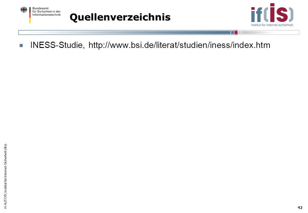 Quellenverzeichnis INESS-Studie, http://www.bsi.de/literat/studien/iness/index.htm