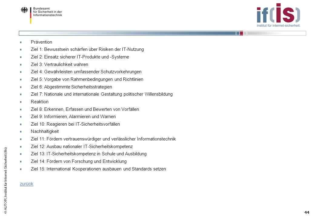 PräventionZiel 1: Bewusstsein schärfen über Risiken der IT-Nutzung. Ziel 2: Einsatz sicherer IT-Produkte und -Systeme.
