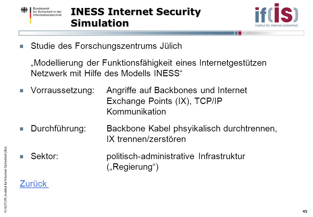 INESS Internet Security Simulation