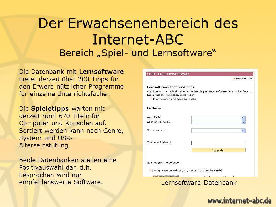 Lernsoftware-Datenbank