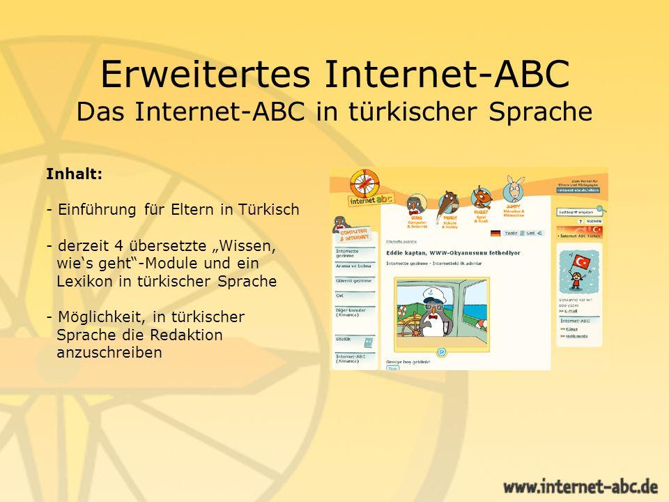 Erweitertes Internet-ABC Das Internet-ABC in türkischer Sprache