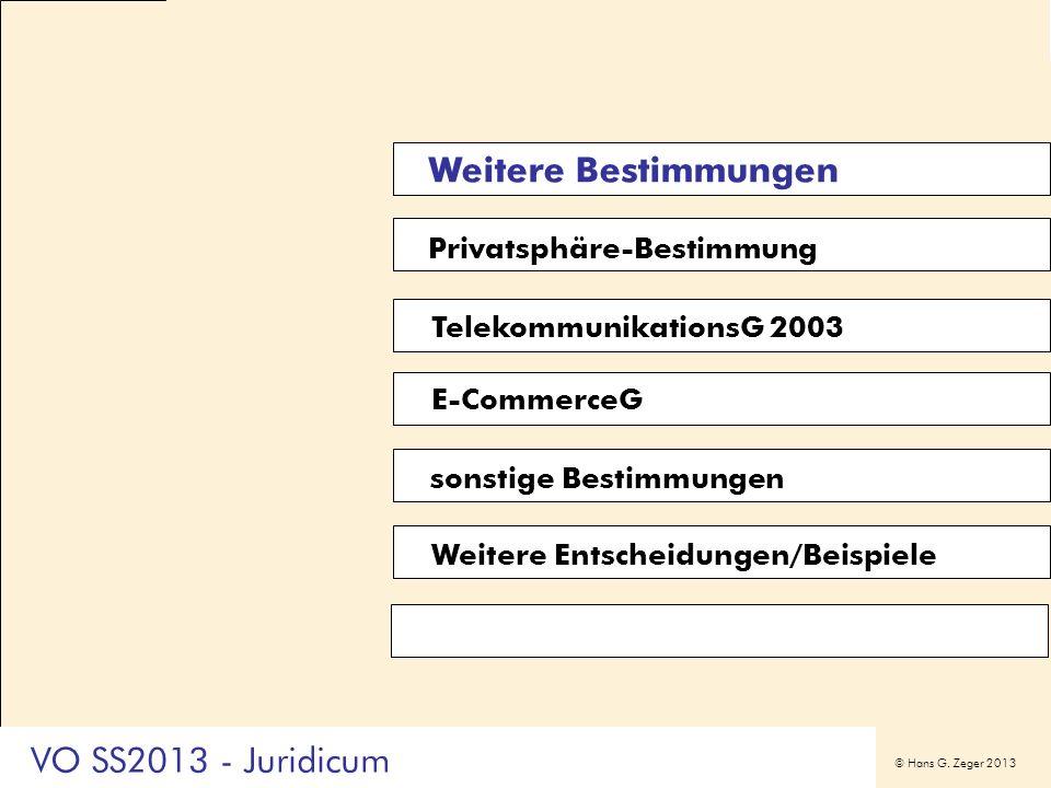 Weitere Bestimmungen VO SS2013 - Juridicum Privatsphäre-Bestimmung