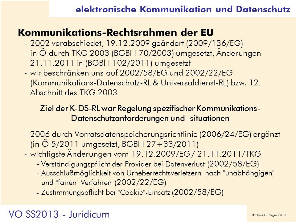 Kommunikations-Rechtsrahmen der EU
