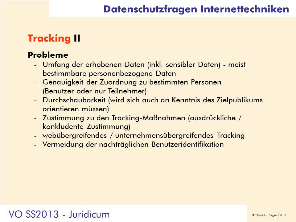 Datenschutzfragen Internettechniken