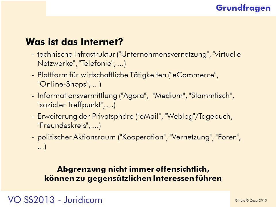 Was ist das Internet VO SS2013 - Juridicum Grundfragen