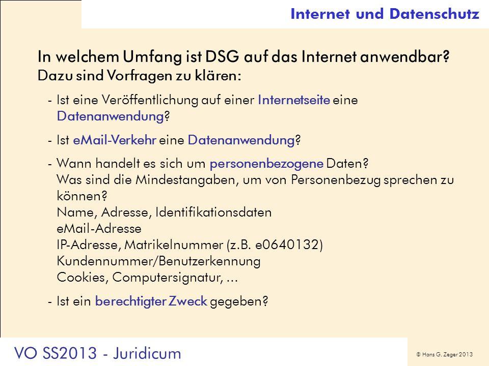 Internet und Datenschutz