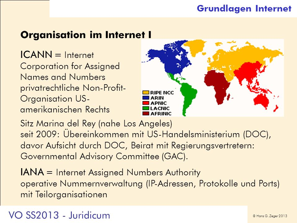 Organisation im Internet I