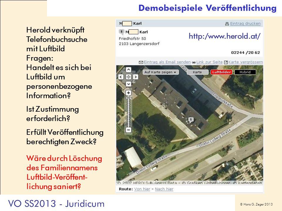 VO SS2013 - Juridicum Demobeispiele Veröffentlichung