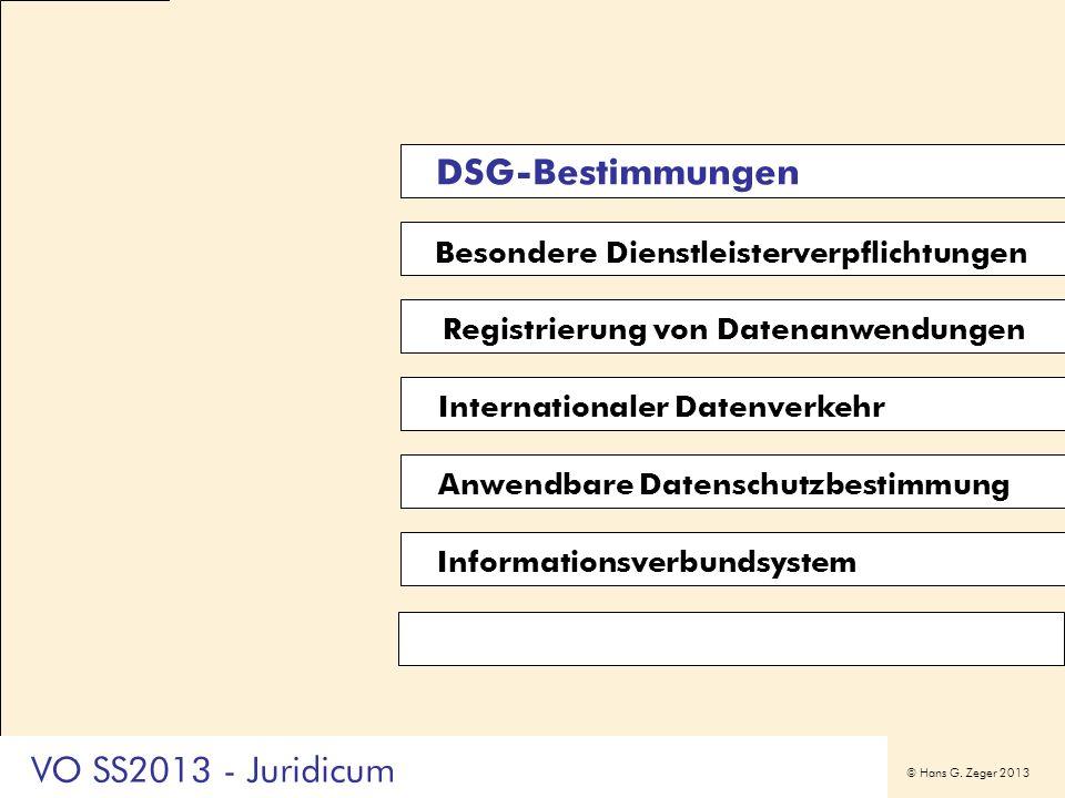 DSG-Bestimmungen VO SS2013 - Juridicum