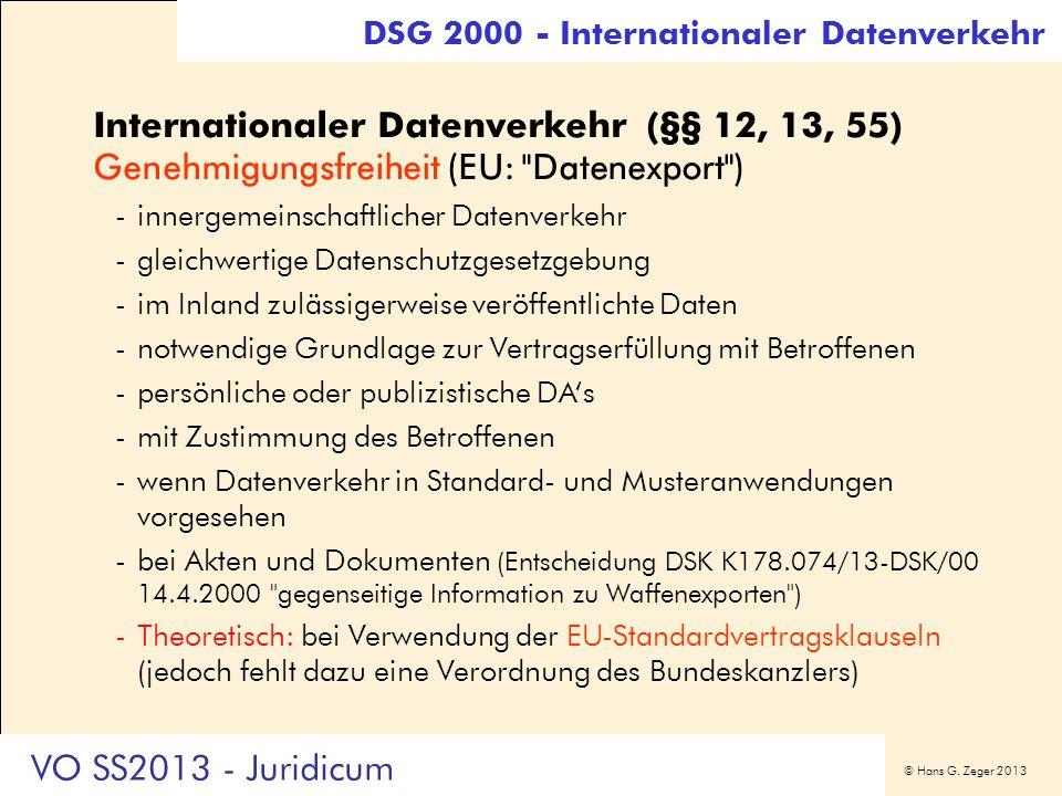 DSG 2000 - Internationaler Datenverkehr