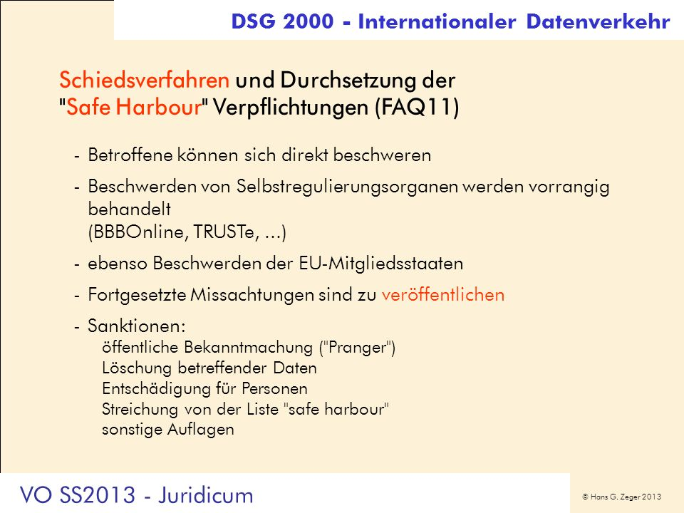DSG Internationaler Datenverkehr